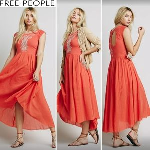 FREE PEOPLE Meadows Embroidered Bohemian Sundress
